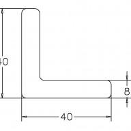Kątownuk wykończeniowy US20 (40x40mm)