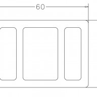 Legar UH17 (60x42mm)